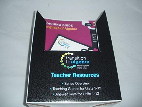 Transition to Algebra: Teacher Resources: HOUGHTON MIFFLIN HARCOURT