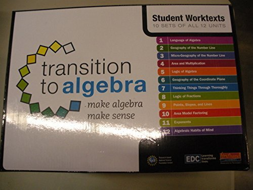 9780325057910: Transition to Algebra: Student Worktexts Replacement Pack, 10 sets of 12 units