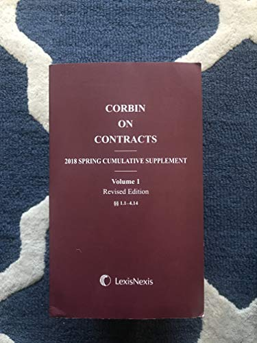 Corbin on Contracts : 2017 Spring Cumulative: Murray, J.E. and
