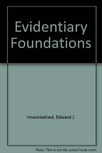 9780327001096: Evidentiary Foundations