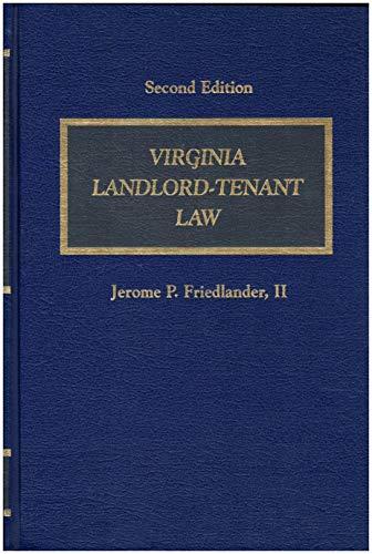 9780327001720: Virginia landlord-tenant law