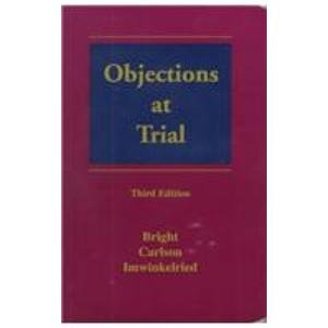 9780327003083: Objections at Trial