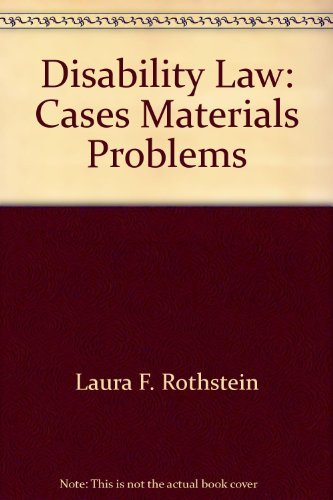 9780327004011: Disability law: Cases, materials, problems (Michie contemporary legal education series)
