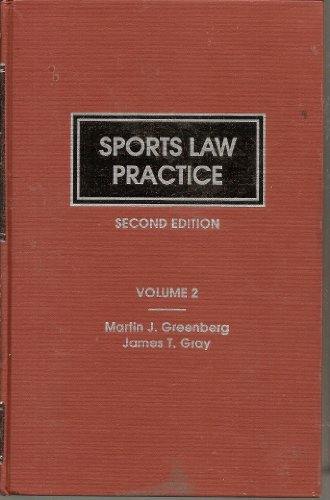 9780327007449: Sports law practice