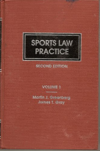 9780327007456: Sports law practice