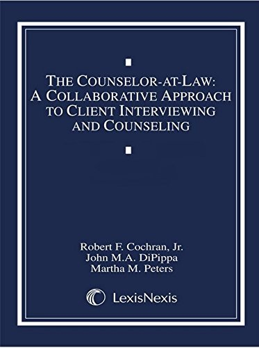 9780327015178: The Counselor-at-Law: A Collaborative Approach to Client Interviewing and Counseling