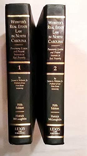 Webster's Real Estate Law in North Carolina: Hetrick, Patrick K., McLaughlin, James B., Jr.