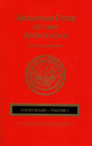 9780327100317: Arkansas Code of 1987 Annotated
