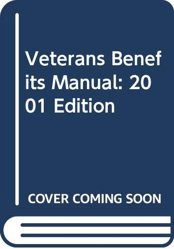 9780327151821: Veterans Benefits Manual: 2001 Edition