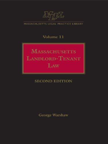 9780327161929: Massachusetts Legal Practice Library Volume 11: Massachusetts Landlord-Tenant Law (Massachusetts practice library)