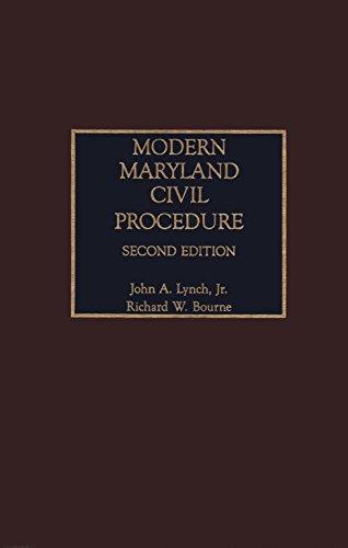 9780327162100: Modern Maryland Civil Procedure