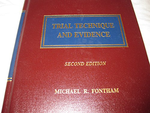 9780327162292: Trial Technique and Evidence, Second Edition