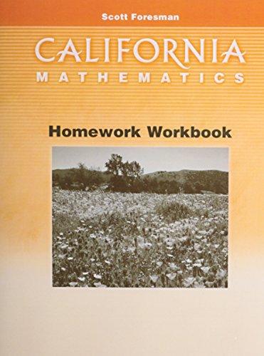 9780328008773: California Mathematics Homework Workbook Grade 3