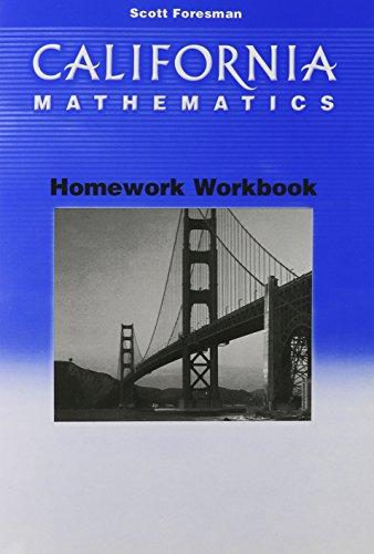 9780328008803: California Mathematics Homework: Grade 6