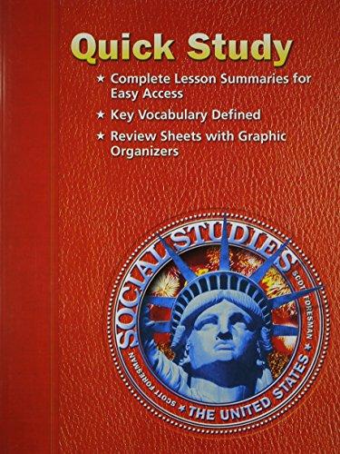 9780328036035: SOCIAL STUDIES 2003 QUICK STUDY GRADE 5