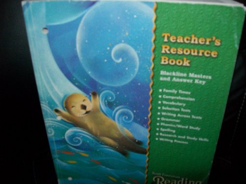 9780328040599: Scot Foresman Reading Teacher's Resource Book Grade 3 (Blackline Masters and Answer Key)