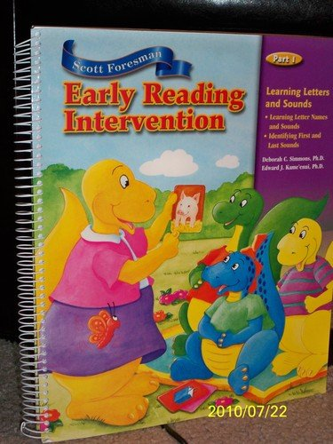 9780328047857: Scott Foresman-Early Reading Intervention Teacher's Guide (Part 1-Learning Letters and Sounds)