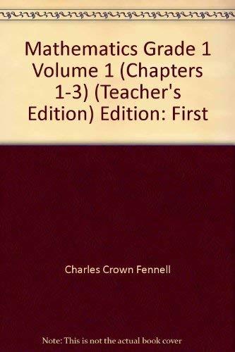 9780328048410: Mathematics Teacher's Edition, Grade 1, Volume 1 (Chapters 1-3)