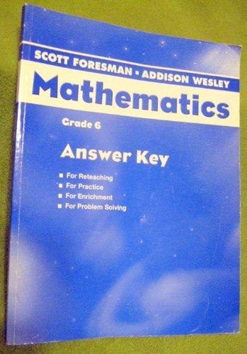 9780328049448: Mathematics Grade 6 Answer Key