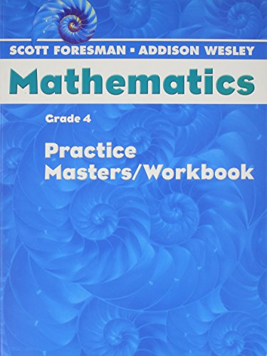 9780328049561: Mathematics Practice Masters, Workbook Grade 4