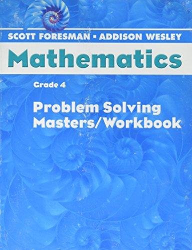 9780328049622: SCOTT FORESMAN MATH 2004 PROBLEM SOLVING MASTERS/WORKBOOK GRADE 4