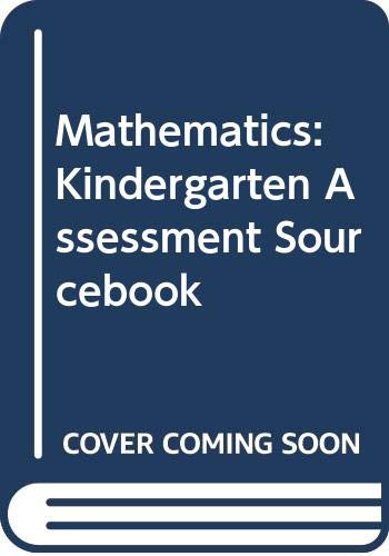 9780328055197: Mathematics: Kindergarten Assessment Sourcebook