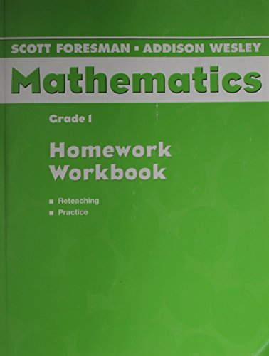 9780328075560: SCOTT FORESMAN ADDISON WESLEY MATH 2004 HOMEWORK WORKBOOK GRADE 1
