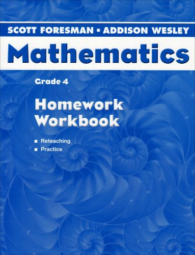 9780328075591: SCOTT FORESMAN ADDISON WESLEY MATH 2004 HOMEWORK WORKBOOK GRADE 4