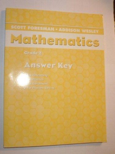 9780328075638: Scott Foresman Addison Wesley Mathematics Grade 2 Homework Workbook Answer Key