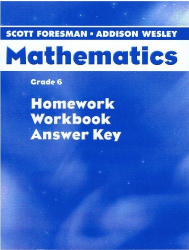 9780328075676: Mathematics Grade 6 Homework, Workbook Answer key