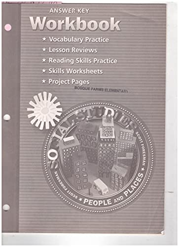 9780328081844: Workbook and Answer Key Grade 2 (Social Studies People and Places)