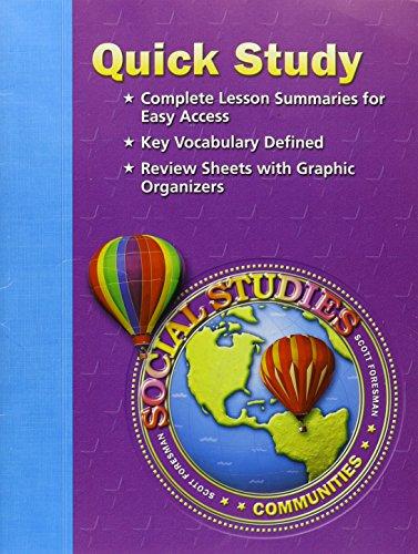 9780328090044: SOCIAL STUDIES 2005 QUICK STUDY GRADE 3