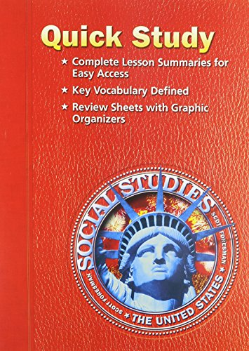 9780328090068: SOCIAL STUDIES 2005 QUICK STUDY GRADE 5 THE UNITED STATES