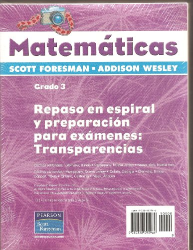 9780328095964: Repaso En Espiral Y Preparacion Para Examenes: Transparencias