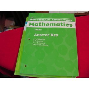 9780328116850: Scott Foresman-Addison Wesley Mathematics Grade 1 Answer Key