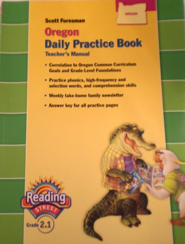 9780328145324: Reading Street Practice Book Teacher's Manual Grade 2.1
