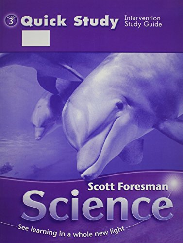 9780328145751: SCOTT FORESMAN SCIENCE 2006 QUICK STUDY GRADE 3