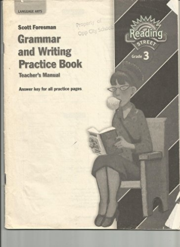 9780328146420: Reading Street Grammar and Writing Practice Book (Teacher's Manual, Answer key for all practice pages Reading Street Grade 3)