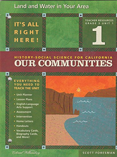 9780328155019: Land and Water in Your Area (History-Social Science for Cailfornia: Our Communities, Grade 3; Unit 1)