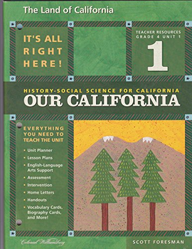 9780328155071: The Land of California (History-Social Science for Cailfornia: Our California, Grade 4 Unit 1)