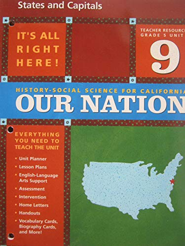 9780328155217: States and Capitals (Teacher Resources Grade 5 Unit 9) (History-Social Science for California: Our Nation)
