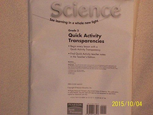 Pearson Scott Foresman Grade 3 Quick Activity Transparencies isbn 9780328166527: Pearson Scott ...