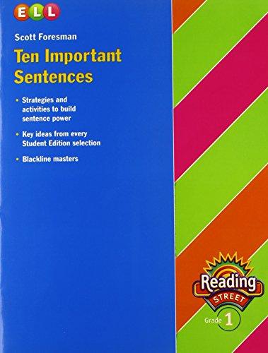 9780328169016: Reading 2007 Ten Important Sentences Grade 1