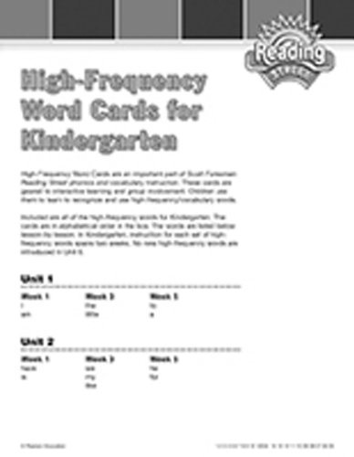 9780328169276: READING 2007 TESTED VOCABULARY HIGH FREQUENCY WORD CARDS GRADE K