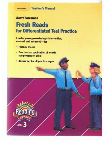 9780328169856: Fresh Reads for Differentiated Test Practice, Grade 3, Teacher's Manual (Scott Foresman, Reading Street)
