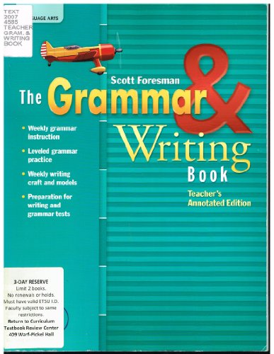 9780328204892: The grammar and writing book / Teacher annotated edition GRADE 6