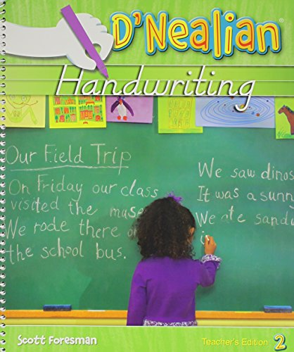 9780328212095: DNEALIAN HANDWRITING 2008 TEACHER EDITION GRADE 2