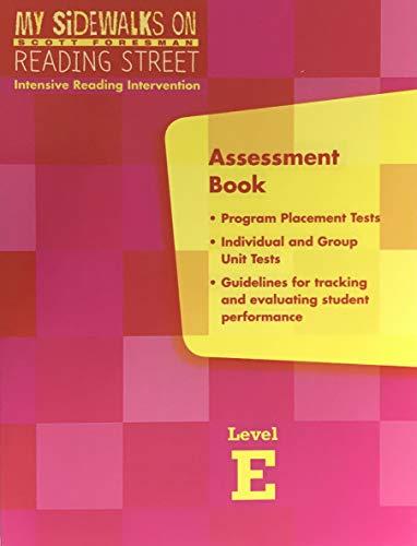 9780328213962: My Sidewalks on Reading Street Assessment Book Level E