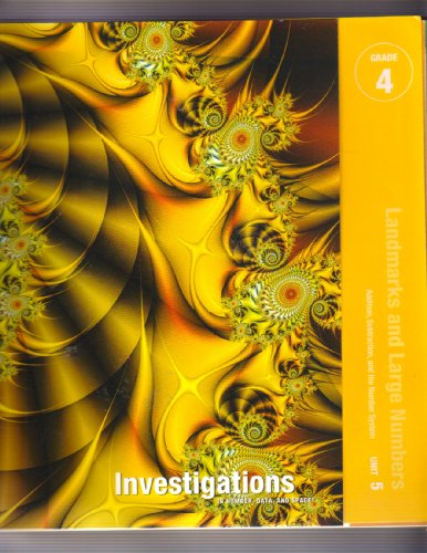 9780328237579: Landmarks and Large Numbers Investigations in Number, Data, and Space, Grade 4: Curriculum Unit 5 Teacher's Guide