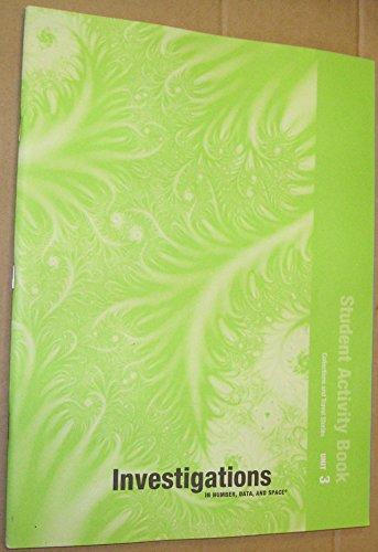 9780328240463: INVESTIGATIONS 2008 STUDENT ACTIVITY BOOK GRADE 3 BOOK 3